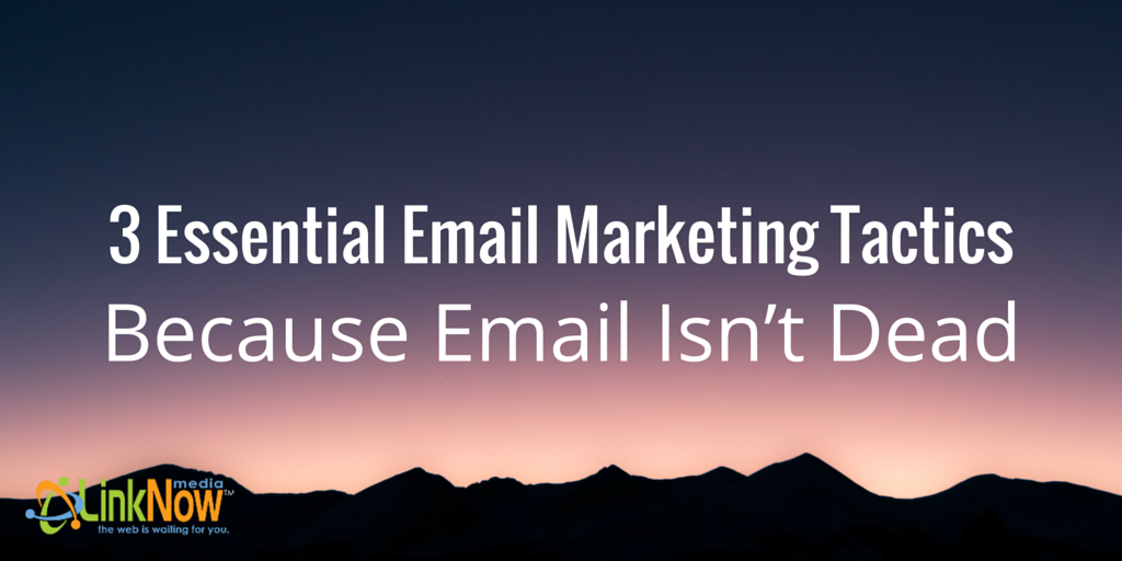 3 Essential Email Marketing Tactics, Because Email Isn't Dead by LinkNow Media