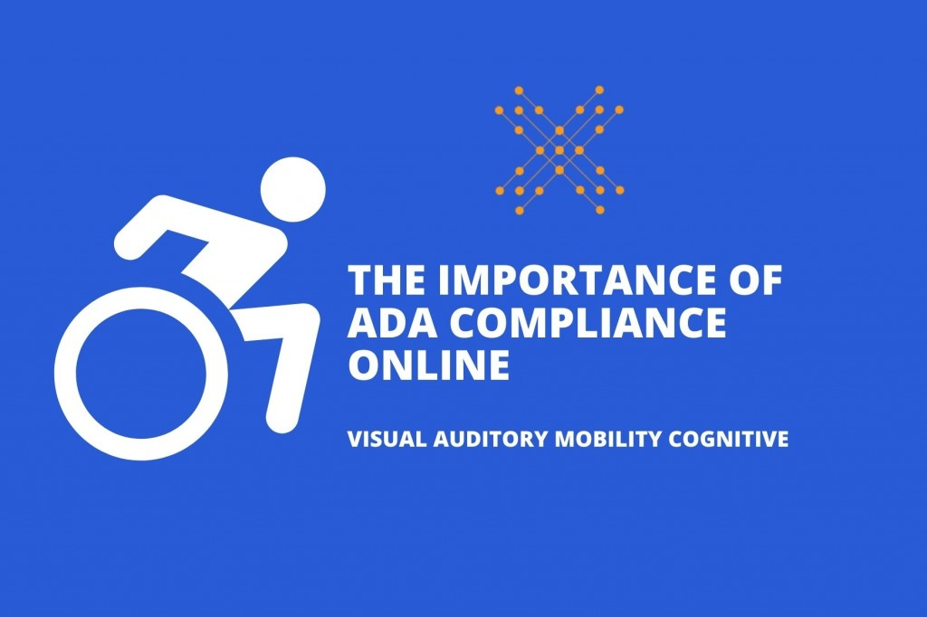 ADA compliance online wheelchair icon with linknow media logo
